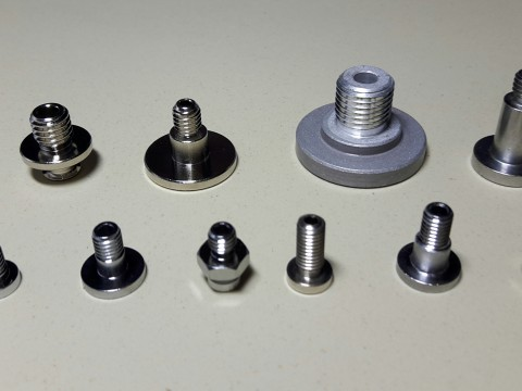 Suction cup hollow screw (vacuum suction cup connector)