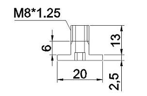 中空螺絲M8