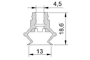 VACUUM PADS ZP13B