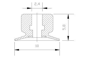 VACUUM PADS VP1-10