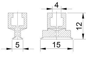 VACUUM PADS S1-5*15