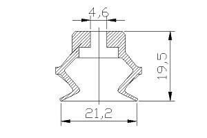 VACUUM PADS PBG-20